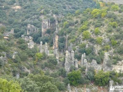 Alcarria_Barranco Reato_La Tajera; nieve en cotos rutas trekking madrid castillo de cuéllar cueva de